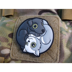 JTG Black Dog - White Cat Yin & Yan Patch, fullcolor /...
