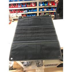 JTG Morale Patch Panel mit 5 Fächern und Molle Webbing, 58 x 44cm, schwarz