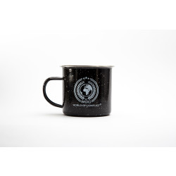 WOC Emaille Tasse 350ml mit WOC World-Of-Conflict Logo,...