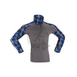 Flannel Combat Shirt, blue, Gr. S