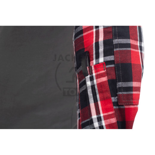 Flannel Combat Shirt, Red, Size S