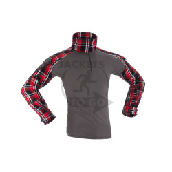 Flannel Combat Shirt, Red, Gr. S