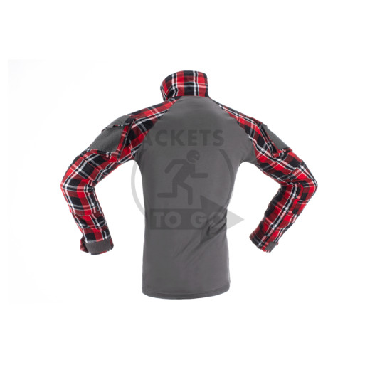 Flannel Combat Shirt, Red, Gr. XXL