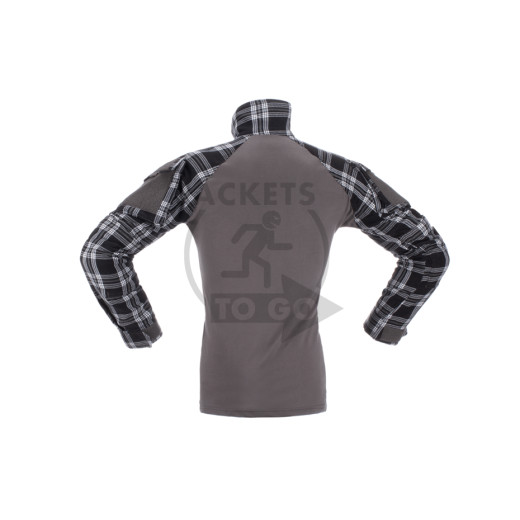 Flannel Combat Shirt, Black, Gr. S