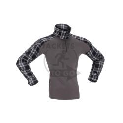 Flannel Combat Shirt, Black, Size S