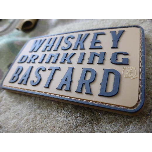 JTG WHISKEY DRINKING BASTARD Patch, coyote brown / JTG 3D Rubber Patch