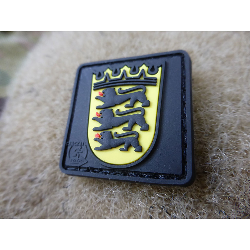 Jtg Wappen Baden Wurttemberg 30mm Patch Jtg 3d Rubber Patch Jackets To Go Berlin We Make Patches 3d Rubber Patc 3 95