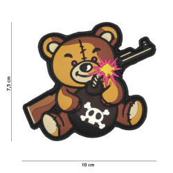 Patch 3D PVC Terror Teddy, brown