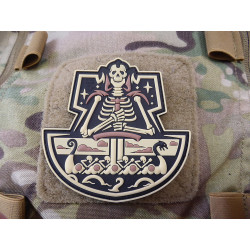 JTG Viking GhostShip Skull Patch, desert / JTG 3D Rubber...