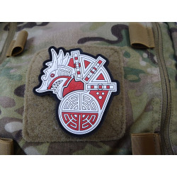 JTG Viking Dragon Ship Head Patch, fullcolor / JTG 3D...