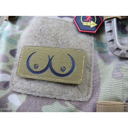 JTG Boobs Lasercut Patch, coyote / NIR Patch - Cordura...