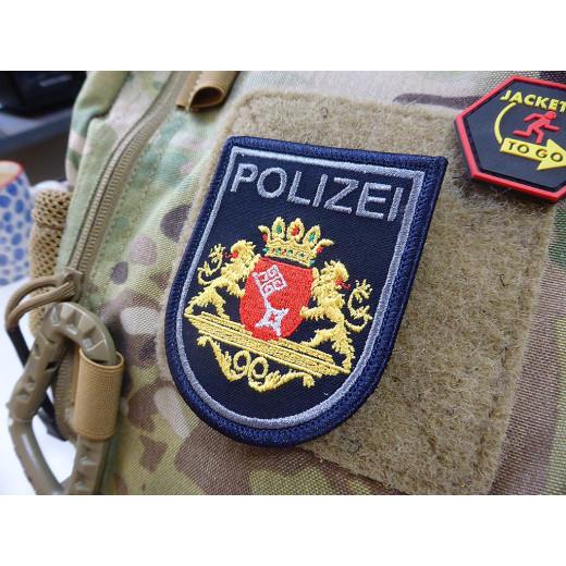 JTG Ärmelabzeichen Polizei Bremen, dunkelblau, klein, gestickt