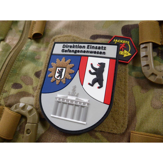 JTG Functional Badge Patch, Direktion Einsatz Gefangenenwesen, fullcolor / JTG 3D Rubber Patch