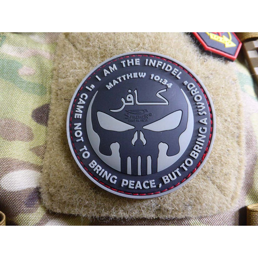 JTG THE INFIDEL PUNISHER Patch, steingrau olive / JTG 3D Rubber Patch