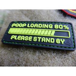 JTG POOP LOADING Patch, fragrant green / JTG 3D Rubber Patch