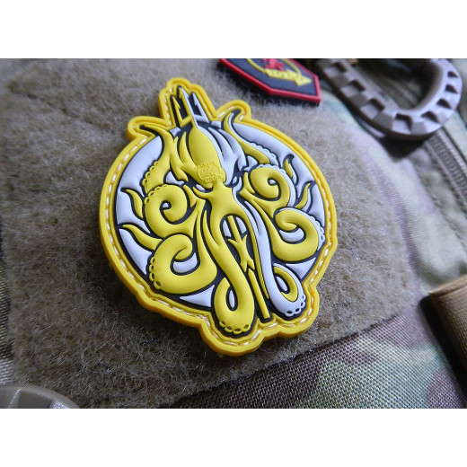 JTG Release The KRAKEN Patch, dirty yellow / JTG 3D Rubber Patch