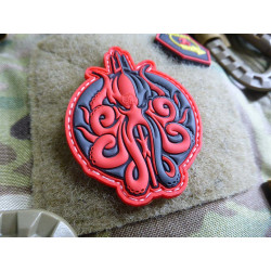 JTG Release The KRAKEN Patch, red / JTG 3D Rubber Patch
