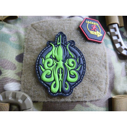 JTG Release The KRAKEN Patch, neon green / JTG 3D Rubber...