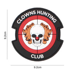 Clowns Hunting Club, Red / Patch 3D PVC