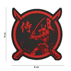 Samurai Warrior Patch, Red / Patch 3D PVC