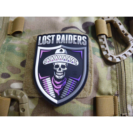 JTG LOST RAIDERS Patch, fullcolor / JTG 3D Rubber Patch