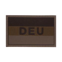Deutschlandflagge mit DEU Kennzeichnung, RAL7013