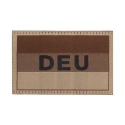 Deutschlandflagge mit DEU Kennzeichnung, Desert