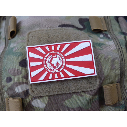 JTG World Of Conflict Rising Sun Patch, redwhite / JTG 3D Rubber Patch