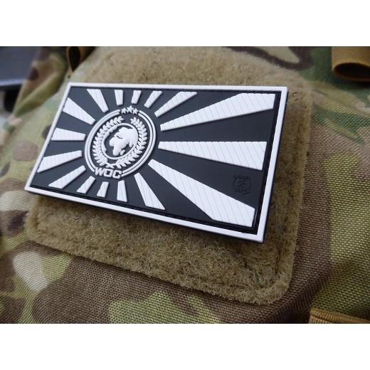 JTG World Of Conflict Rising Sun Patch, blackwhite / JTG 3D Rubber Patch