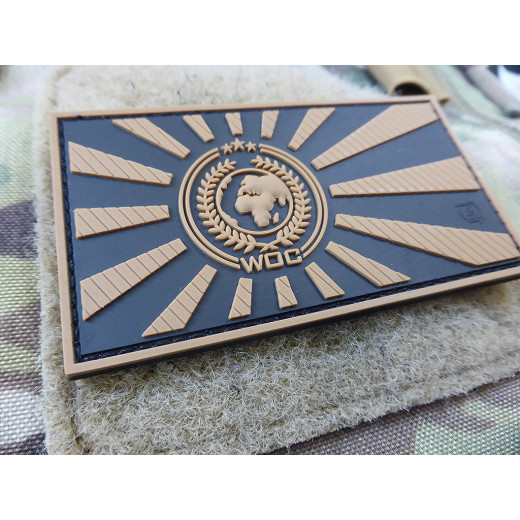 JTG World Of Conflict Rising Sun Patch, coyote / JTG 3D Rubber Patch