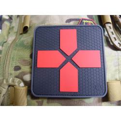JTG Big RedCross Medic Patch, 100mm, blackmedic  / JTG 3D Rubber Patch