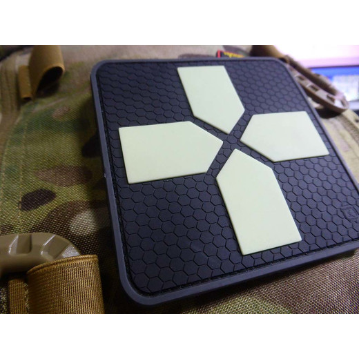 JTG Big RedCross Medic Patch, 100mm, gid / JTG 3D Rubber Patch