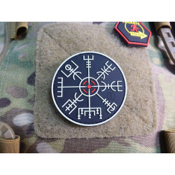 JTG VEGVISIR VIKING COMPASS Patch, gid / JTG 3D Rubber Patch