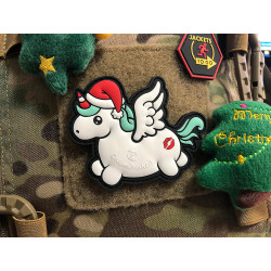 JTG CHRISTMAS UNICORN / MERRY KISSMYASS  Patch, fullcolor...