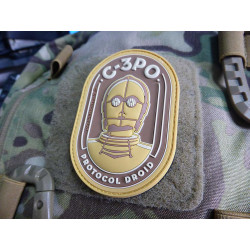 STAR WARS PROTOCOL DROID Patch, PVC 3D Rubber Patch