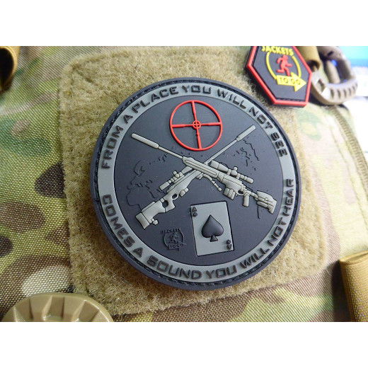 JTG Sniper Patch, steingrau-olive / JTG 3D Rubber Patch