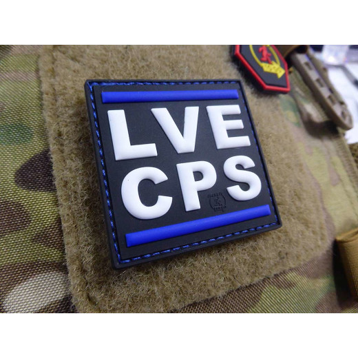 JTG LVE CPS thin blue line Patch / JTG 3D Rubber Patch