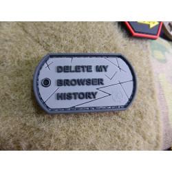 JTG Browser History Dog Tag Patch, fullcolor / JTG 3D Rubber Patch