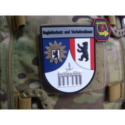 JTG Ärmelabzeichen Begleitschutz und Verkehrsdienst, fullcolor / JTG 3D Rubber Patch