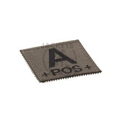 A +POS+ Bloodgroup Patch, RAL7013