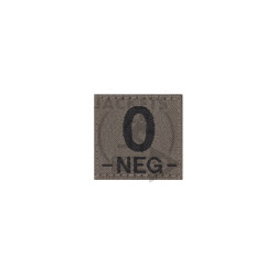 0 -NEG- Bloodgroup Patch, RAL7013