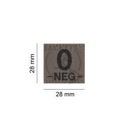 0 -NEG- Bloodgroup Patch, RAL7013