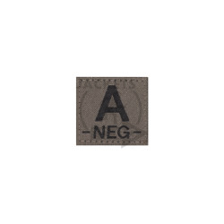 A -NEG- Bloodgroup Patch, RAL7013