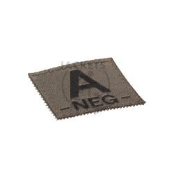 A -NEG- Bloodgroup Patch, RAL7013