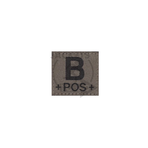 B +POS+ Bloodgroup Patch, RAL7013
