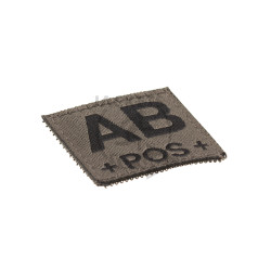 AB +POS+ Bloodgroup Patch, RAL7013