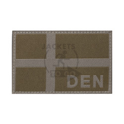 Denmark Flag Patch, RAL7013