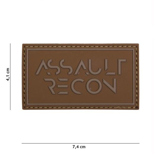 Assault Recon, coyote / Patch 3D PVC