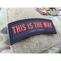 JTG THIS IS THE WAY / I HAVE SPOKEN Patch, red blackops /...