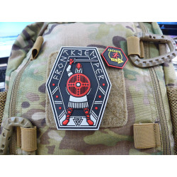 JTG FRONTKJEMPER Patch, red blackops / JTG 3D Rubber Patch